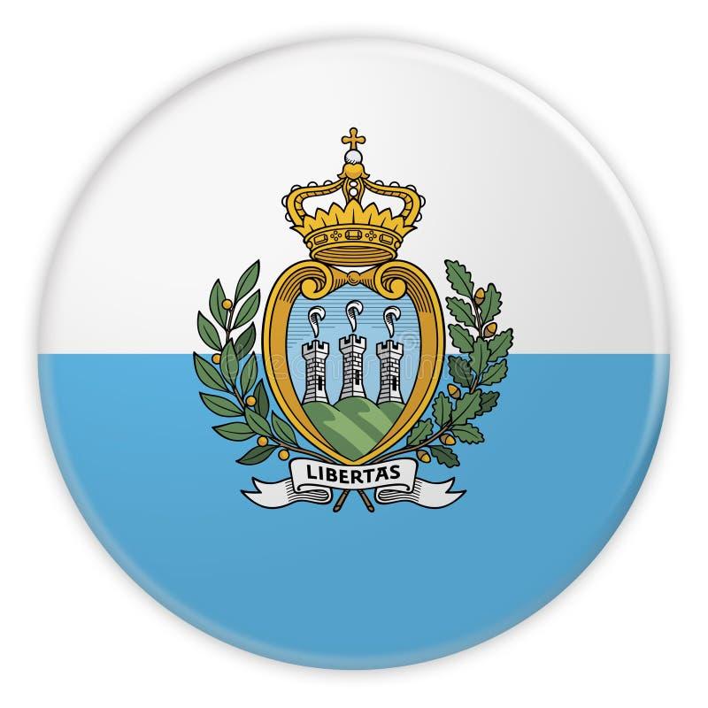 San Marino Flag Button, crachá do conceito da notícia ilustração do vetor