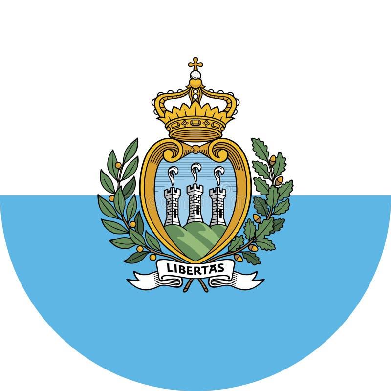 San Marino Flag illustration vector eps vector illustration