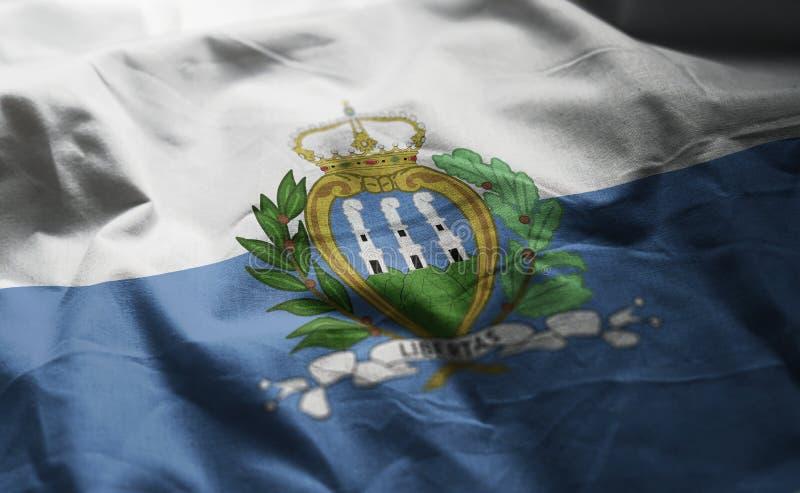 San Marino Flag Rumpled Close Up fotos de archivo libres de regalías