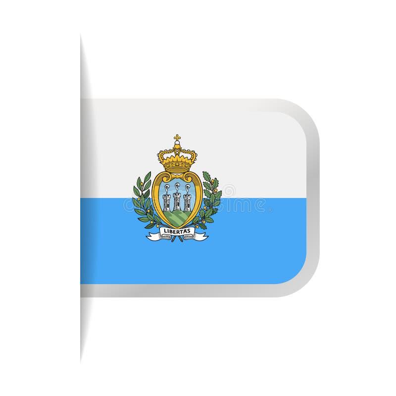 San Marino Flag Vector Bookmark Icon ilustración del vector