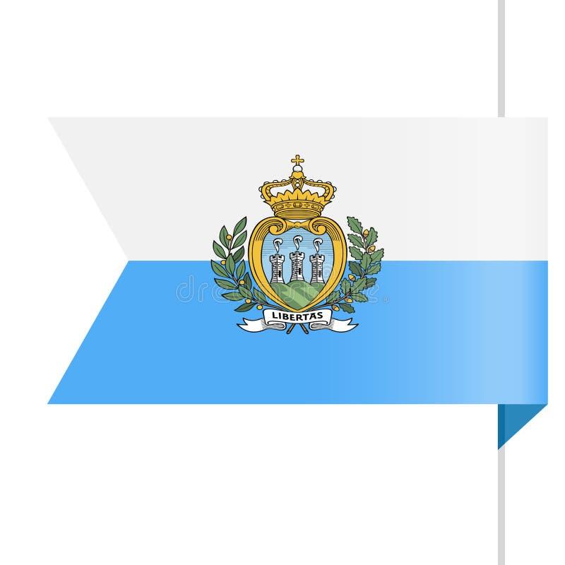 San Marino Flag Vector Bookmark Icon stock de ilustración