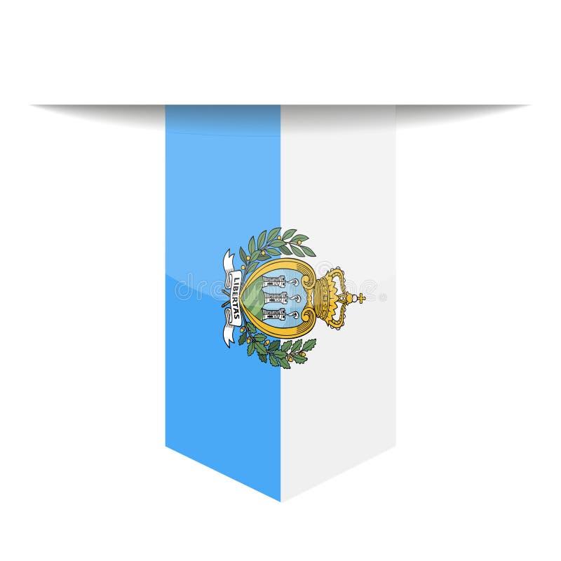 San Marino Flag Vector Bookmark Icon libre illustration