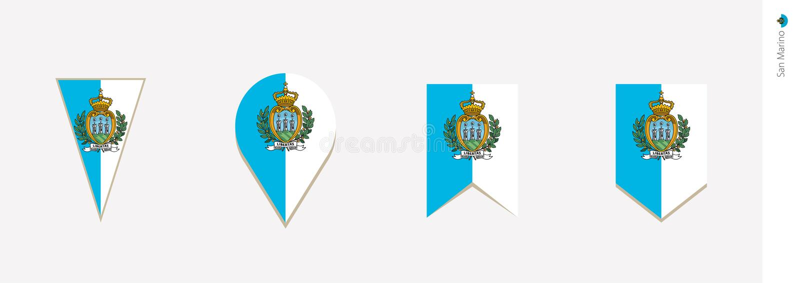 San Marino flag in vertical design, vector illustration royalty free illustration