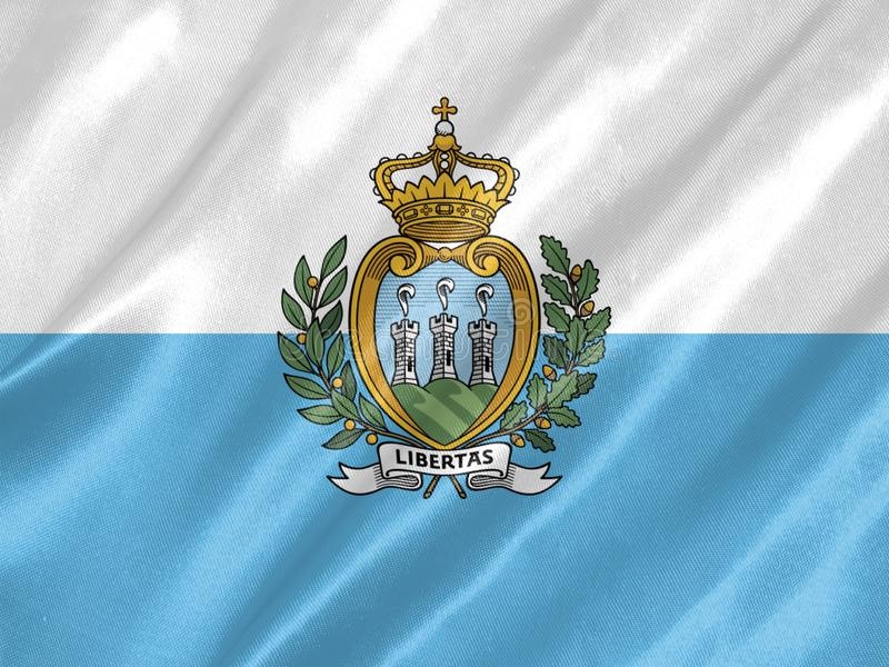 San Marino Flag royalty free illustration