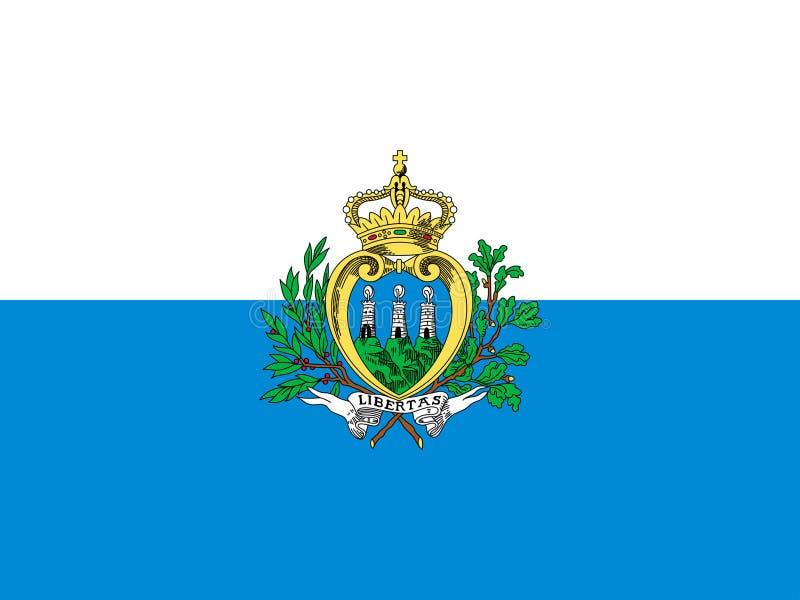 San Marino flaga ilustracji