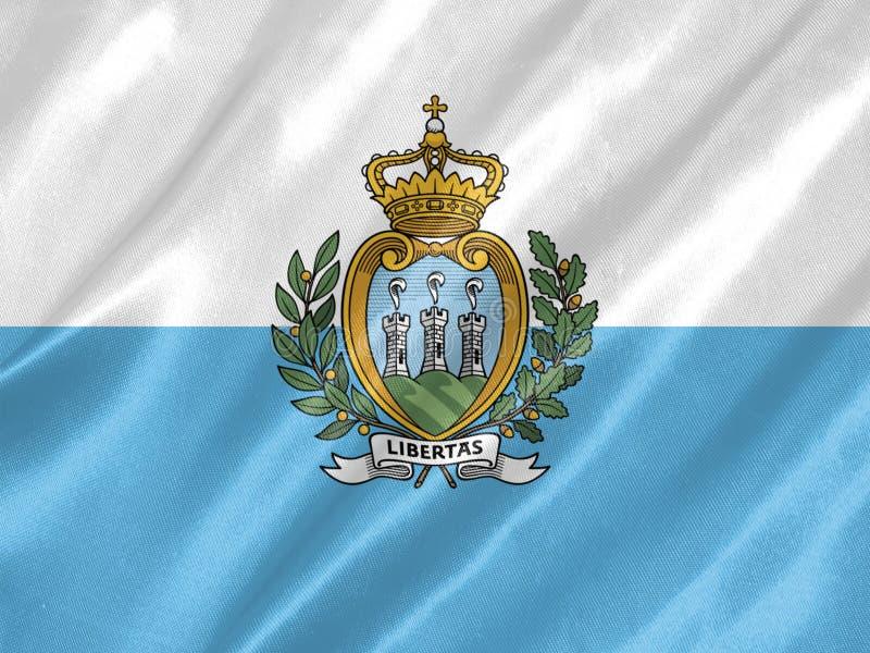 San Marino flaga royalty ilustracja