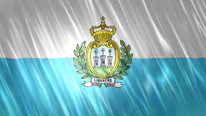 San Marino flaga ilustracja wektor