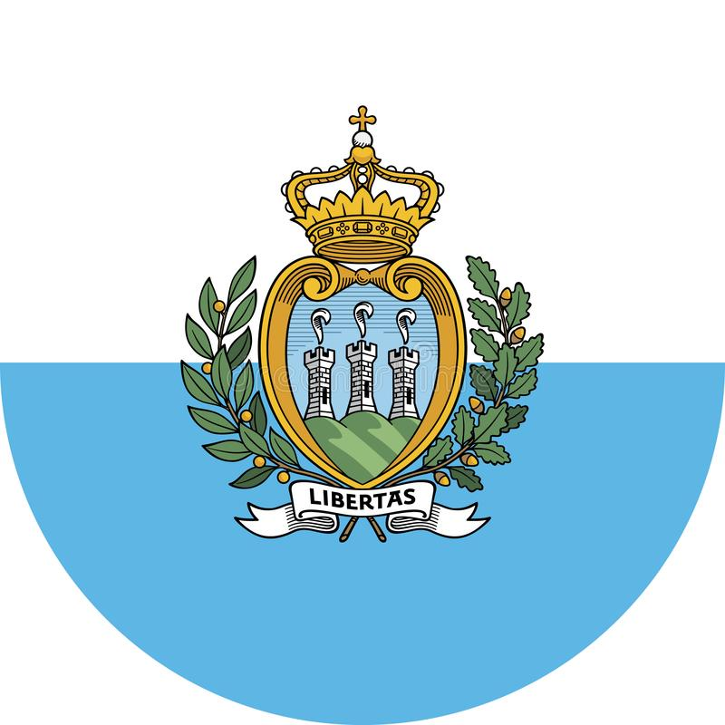 San Marino flagi ilustracyjny wektor eps ilustracja wektor