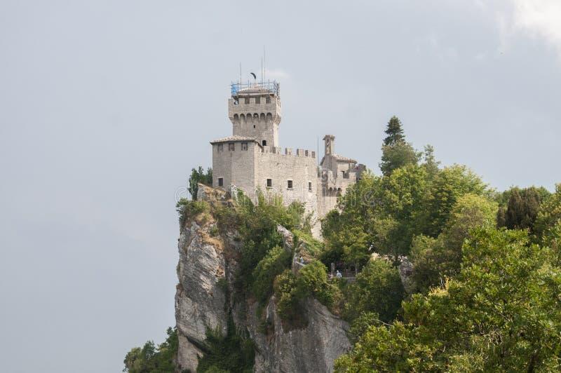 San Marino - 28 giugno, 2017: Castello di San Marino immagine stock libera da diritti
