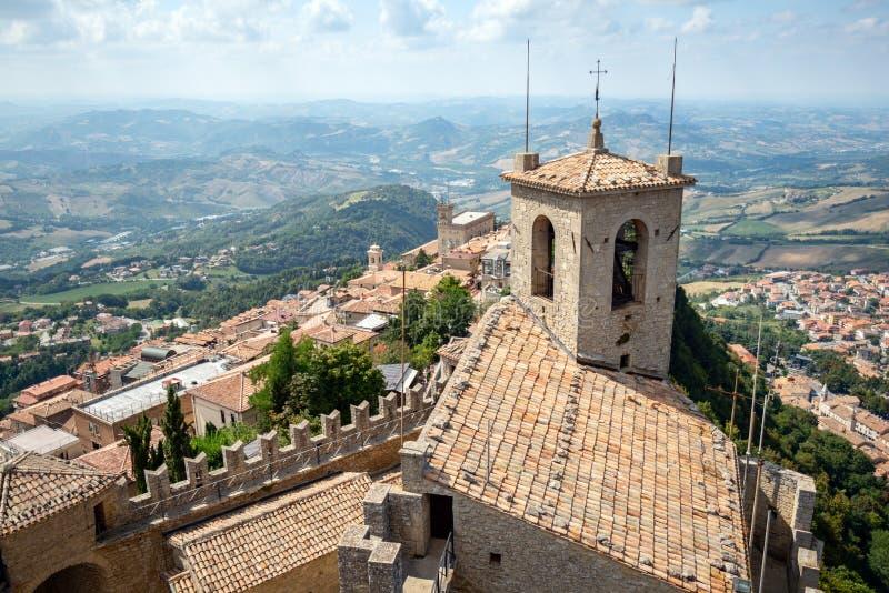 San Marino Italien arkivbild