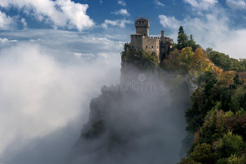San Marino Italien I andra hand torn: Cestaen eller Frattaen royaltyfri fotografi