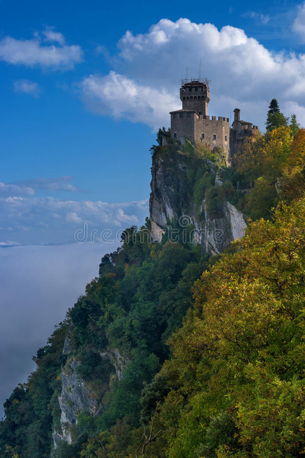 San Marino, Italy. Second tower: the Cesta or Fratta stock image