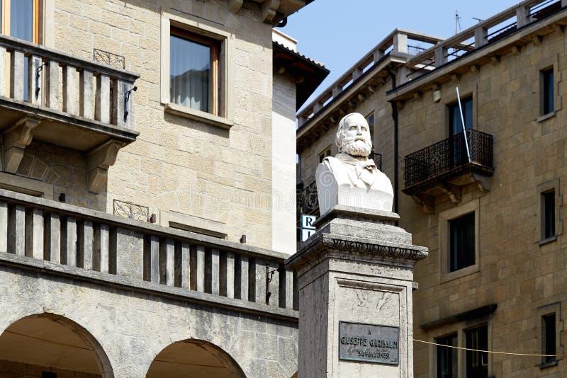 San marino San Marino, Lipiec 10, -, 2017: Zabytek Giuseppe Garibaldi obrazy royalty free