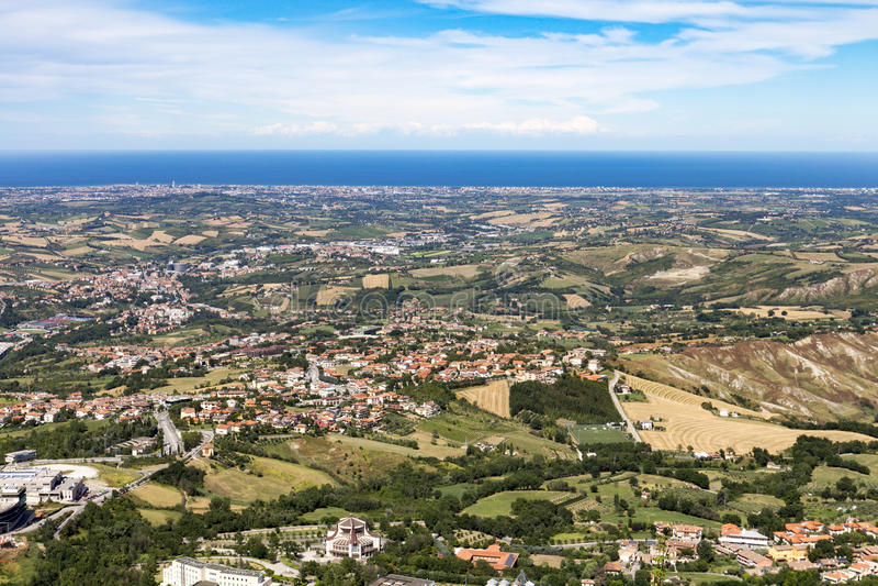 San-Marino meningen stock foto's
