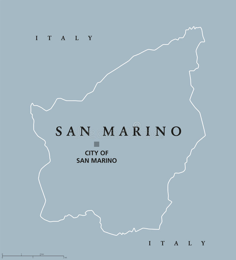San Marino political map stock illustration