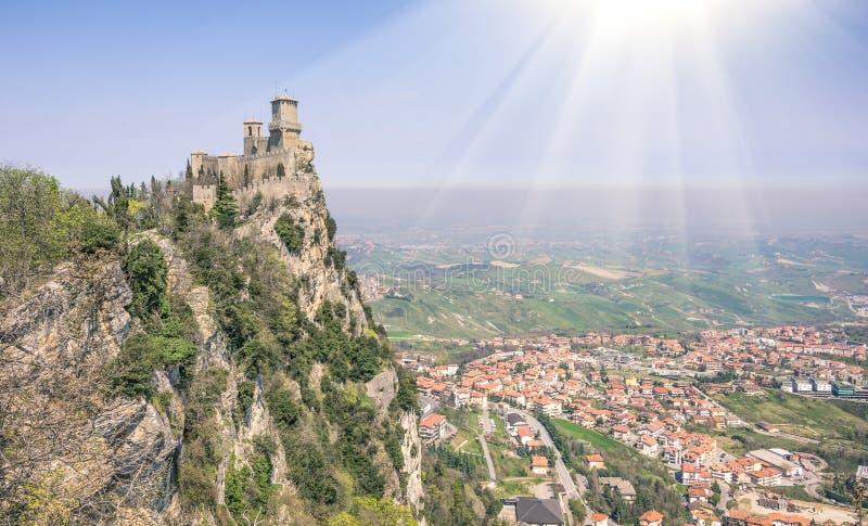 San Marino Republic - Rimini Italien royaltyfri bild