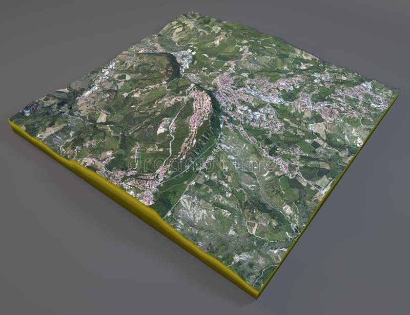 San Marino Satellite View Stock Illustration Illustration Of - San marino map download