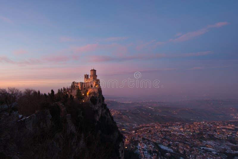 San Marino Sunset lizenzfreies stockbild