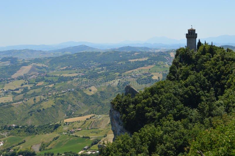 San-Marino tower stock photo