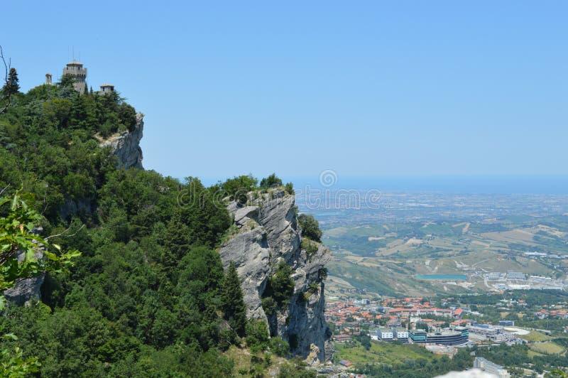 San-Marino tower royalty free stock photo