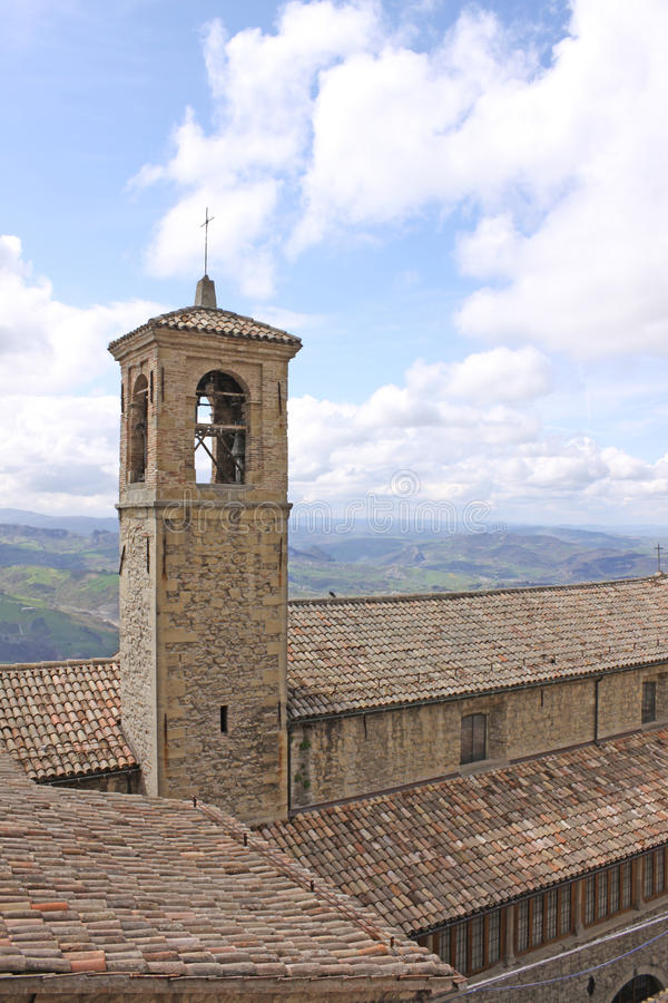 Free San Marino. View Of City. Bell Tower Royalty Free Stock Image - 65102416