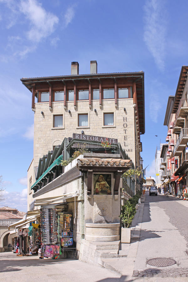 Free San Marino. View Of City. Shop And Restaurant Royalty Free Stock Photo - 65102725