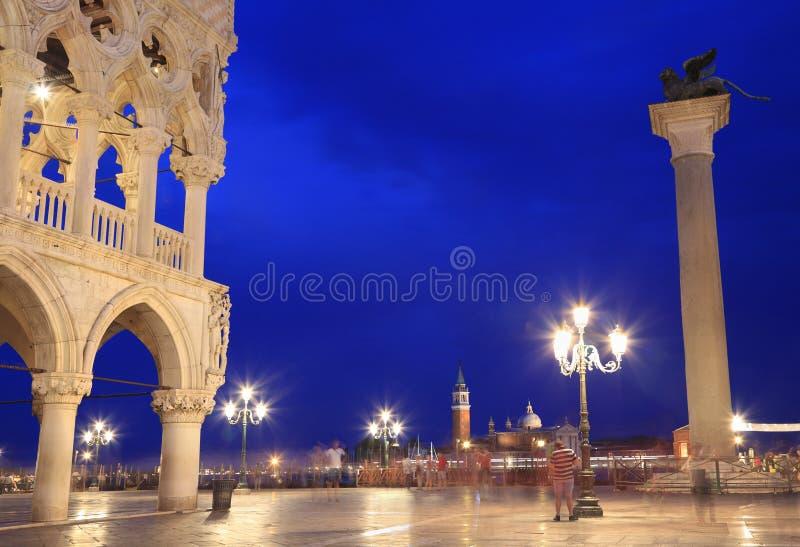 San Mark Square bij schemer, Venetië royalty-vrije stock foto's