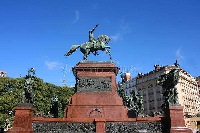 San Martin, Buenos Aires. Monument of General San Martin in Buenos Aires, Argentina royalty free stock photography