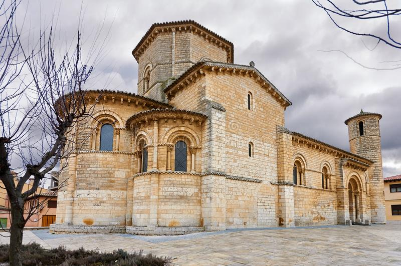 San Martin Church, in Fromista, nella strada a Santiago fotografia stock