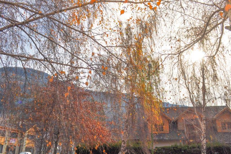 San Martin de los Andes in Autumn royalty free stock photos