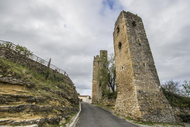 San-Martin-le-Vieil, Francia fotografia stock libera da diritti