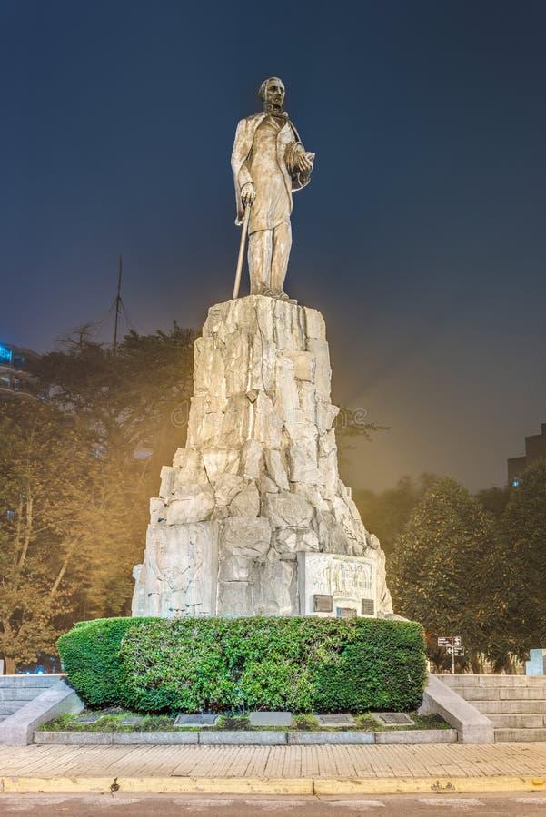 San Martin Monument em março del Plata, Argentina imagem de stock
