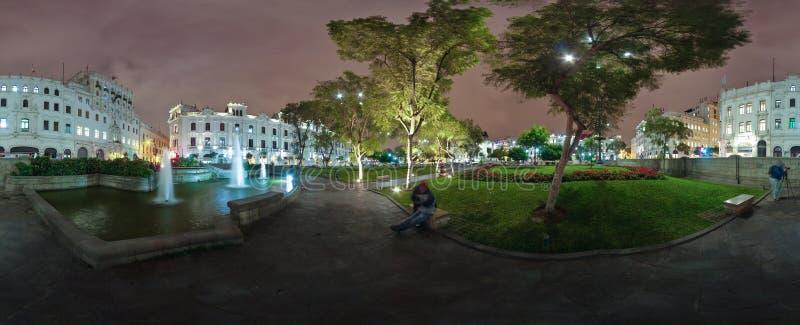 San Martin Square em Lima do centro imagem de stock royalty free