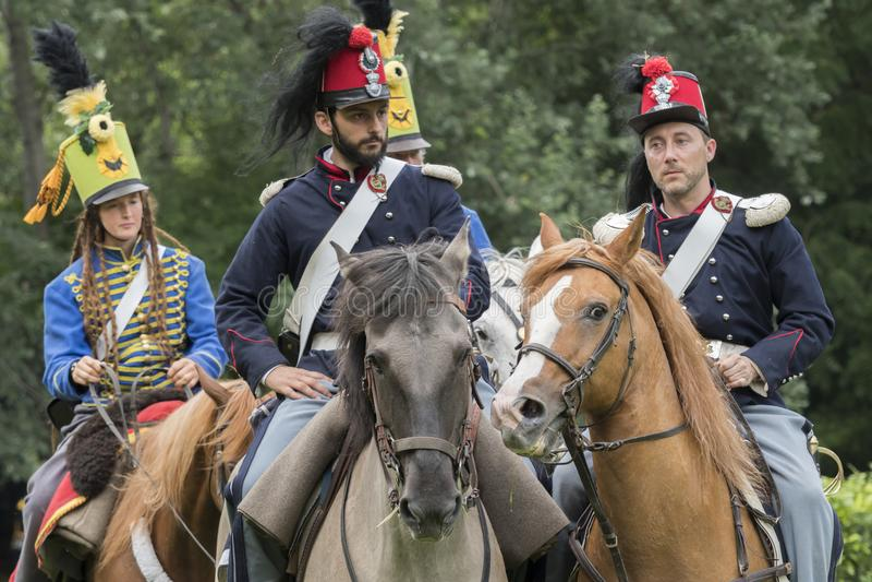 San Martino Della Battaglia BS, Italien am 24. Juni 2018 Gedenken des Kampfes von Solferino und von San Martino 1859 lizenzfreie stockfotos