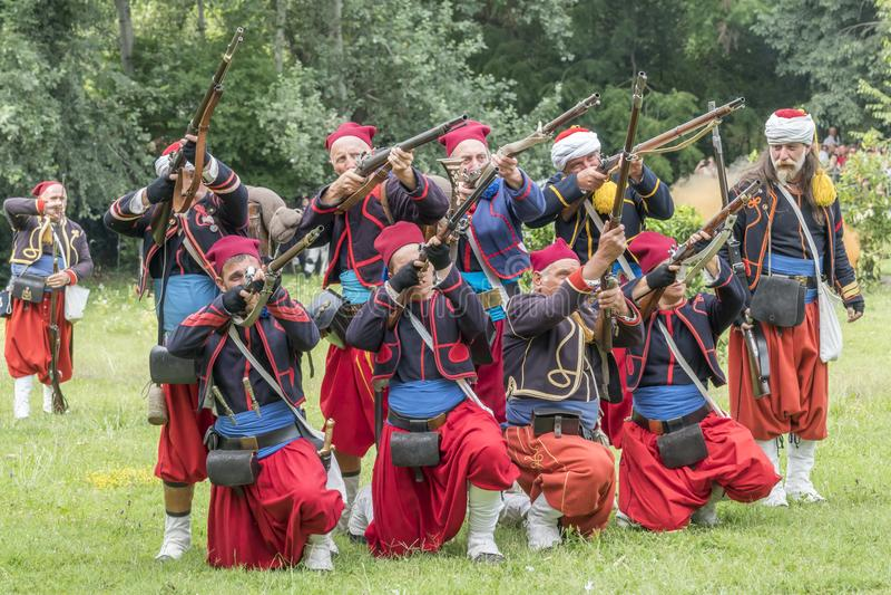 San Martino Della Battaglia BS, Italien am 24. Juni 2018 Gedenken des Kampfes von Solferino und von San Martino 1859 lizenzfreies stockfoto