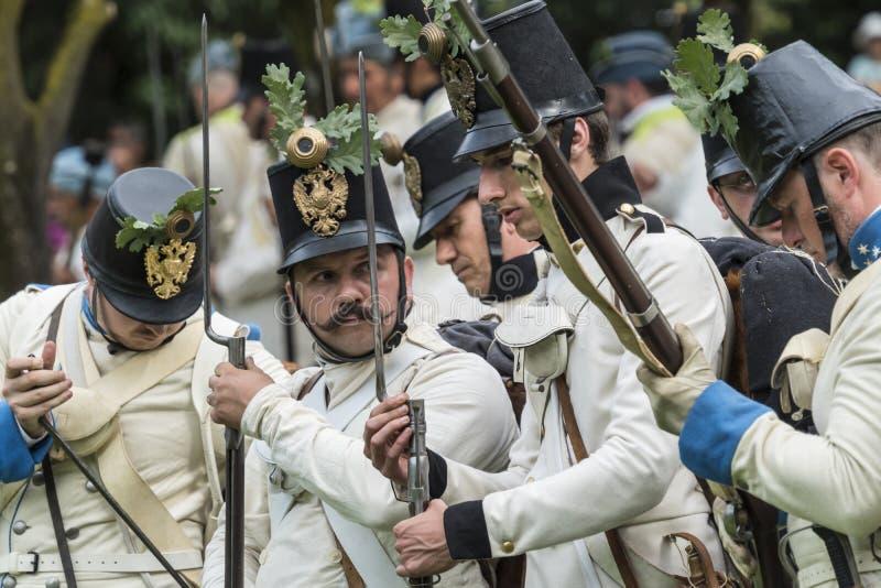 San Martino Della Battaglia BS, Italien am 24. Juni 2018 Gedenken des Kampfes von Solferino und von San Martino 1859 stockbilder