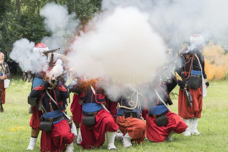 San Martino Della Battaglia BS, Italien am 24. Juni 2018 Gedenken des Kampfes von Solferino und von San Martino 1859 stockfotos