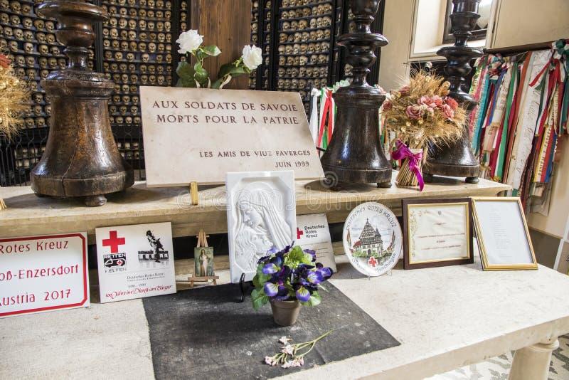 San Martino della Battaglia ossuary arkivfoto
