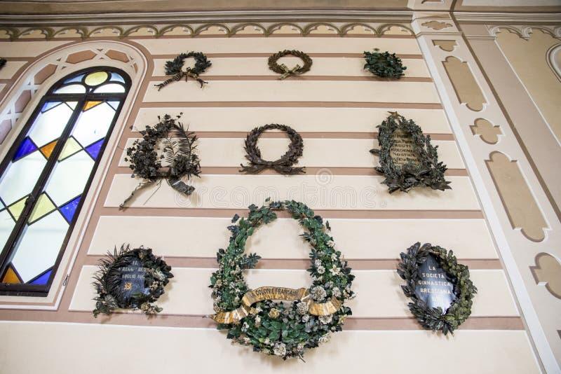 San Martino della Battaglia ossuary royaltyfri bild