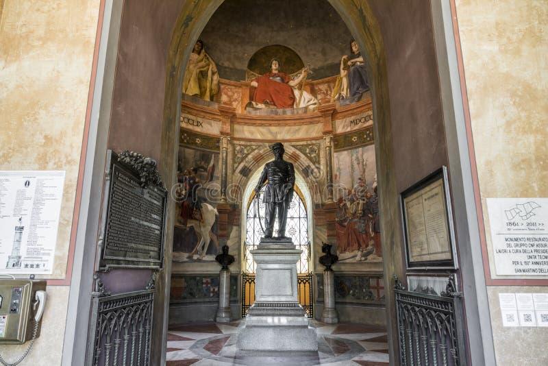 San Martino della Battaglia torn, Italien arkivbild