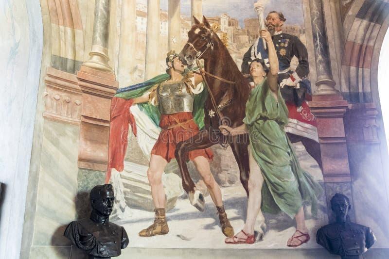San Martino della Battaglia torn, Italien arkivfoto