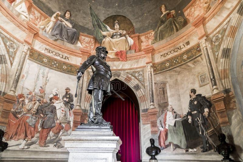 San Martino della Battaglia torn, Italien royaltyfri bild