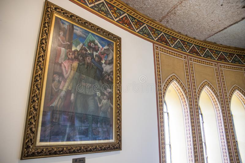 San Martino della Battaglia torn, Italien royaltyfri fotografi