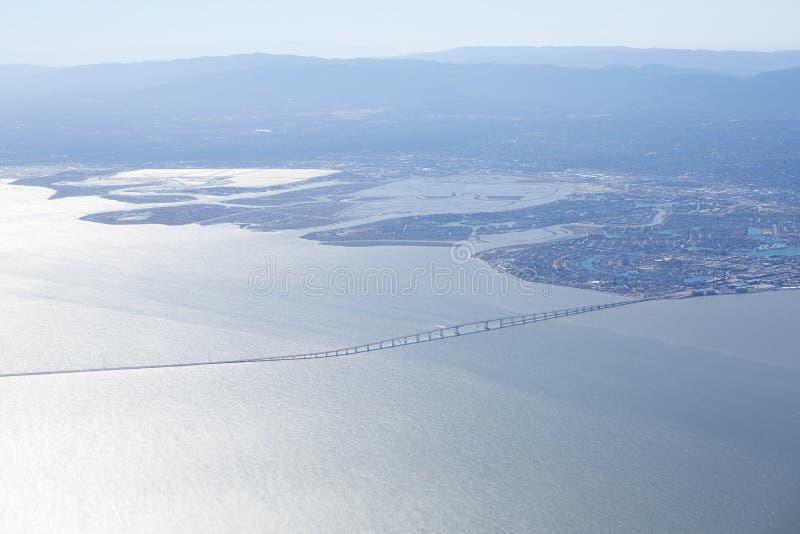 San Mateo Bridge immagine stock libera da diritti
