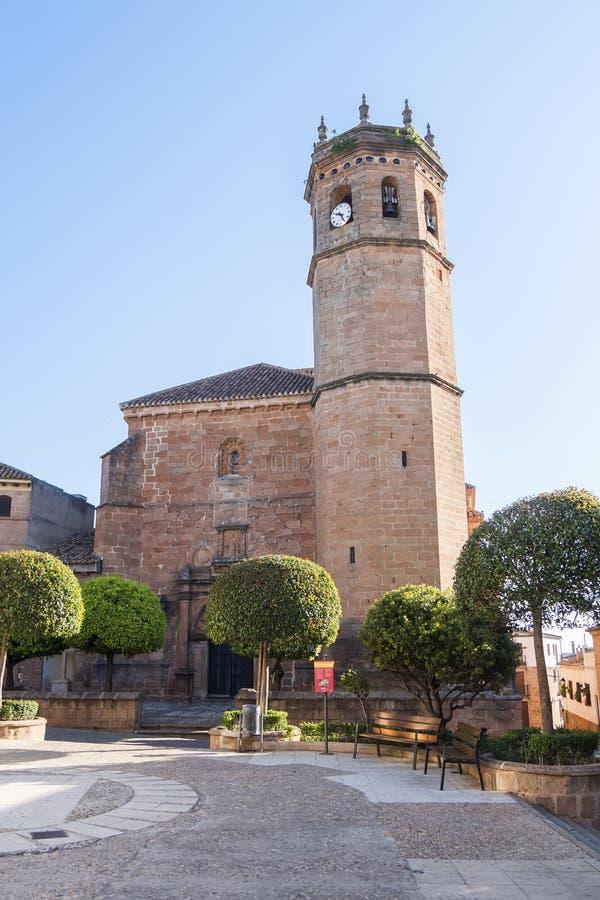 San Mateo-Kirche, Baños De-La Encina-Dorf, Jaen-Provinz, SP stockfotografie