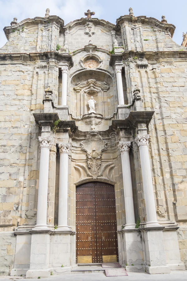 San Mateo kościół, Tarifa, Cadiz Hiszpania obraz royalty free