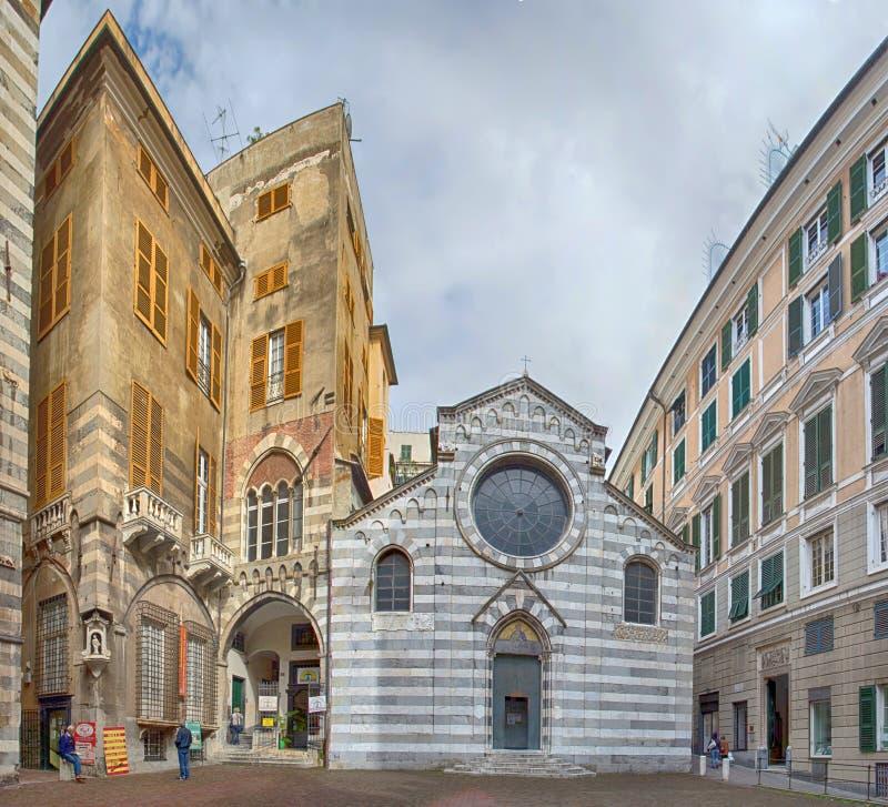 San Matteo Saint Mattew Church au centre historique de Gênes, Italie image stock