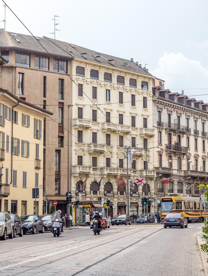 San Maurizio al Monastero Maggiore kyrka i Milan, Italien arkivfoto