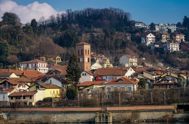 San Mauro torinese a cidade velha imagens de stock royalty free
