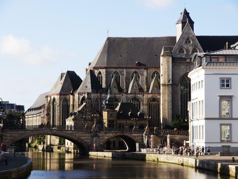 San Michael Church a Gand, Belgio fotografia stock libera da diritti